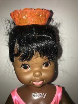 Vtg 1968 Dancerina 24 Doll. Works great Original Outfit Box Record Black doll