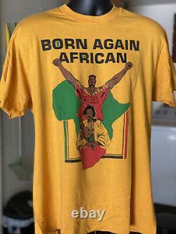 Vtg Black Pride African Born Again Single Stitch 1990s 90s T Shirt Xl